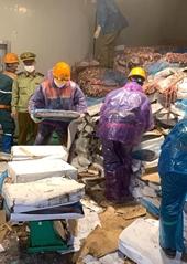 Hơn 72 tấn lòng lợn bốc mùi không rõ nguồn gốc chờ tiêu thụ tại Hải Dương