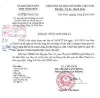 Chủ tịch UBND huyện Sông Lô kiểm tra, làm rõ