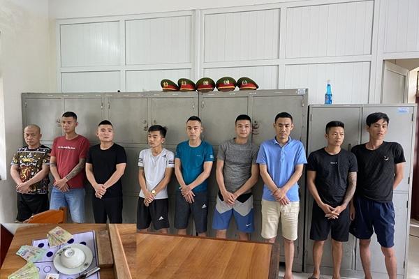 Sát phạt nhau ở đầm nuôi tôm, 9 con bạc bị bắt