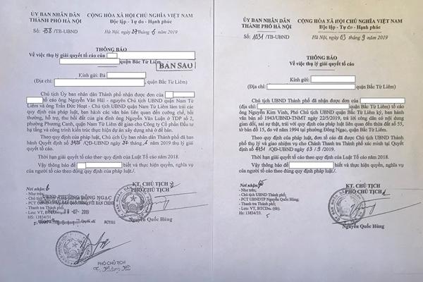 Bao giờ Chủ tịch Hà Nội kết luận 03 nội dung tố cáo của công dân Bắc Từ Liêm?