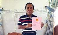 Ông Trương Văn Hương đã được cấp sổ đỏ với diện tích gần 1 800m2