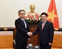 Phó Thủ tướng Phạm Bình Minh tiếp Đại sứ đặc mệnh toàn quyền Nhật Bản