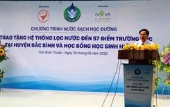 Novaland lan toả niềm vui nước sạch học đường đến huyện Bắc Bình, tỉnh Bình Thuận