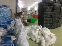 Phát hiện 2000m2 nhà xưởng dùng để đóng găng tay tái chế ở Hòa Bình