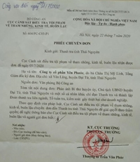 Bộ Công an chuyển đơn đến Thanh tra tỉnh giải quyết