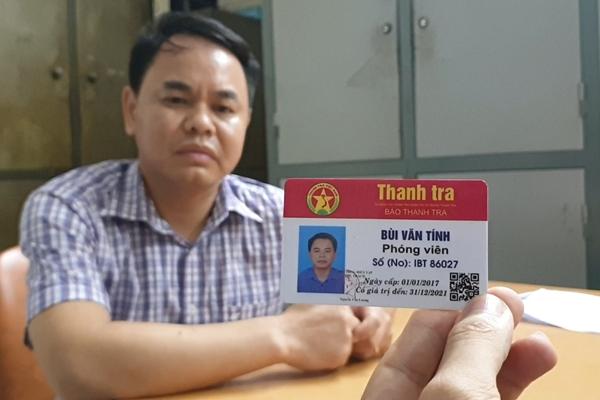 Bắt quả tang đối tượng giả mạo phóng viên Báo Thanh tra