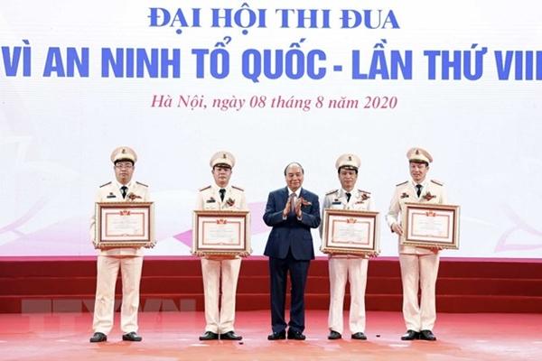 Thủ tướng dự Đại hội 'Vì an ninh Tổ quốc' lực lượng công an nhân dân