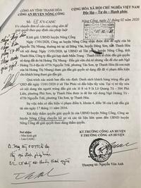 Phó Chủ tịch UBND huyện Nông Cống có cố tình vi phạm pháp luật