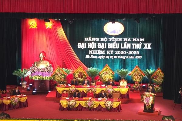 Khai mạc Đại hội đại biểu Đảng bộ tỉnh Hà Nam lần thứ XX