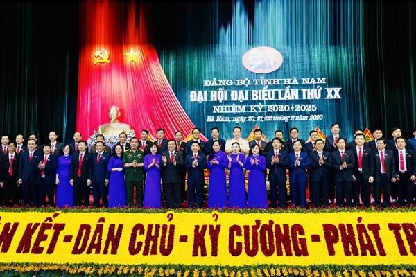 Đại hội đại biểu Đảng bộ tỉnh Hà Nam lần thứ XX thành công tốt đẹp