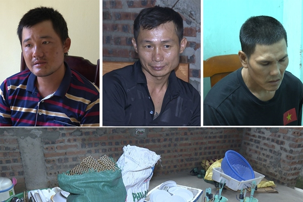 Bắt 3 đối tượng trộm cắp quạt trần ở nhà người dân