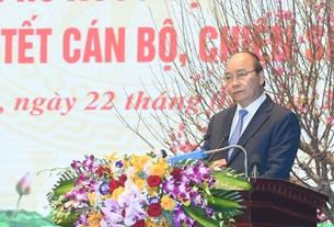Thủ tướng Nguyễn Xuân Phúc thăm, chúc Tết bộ đội biên phòng