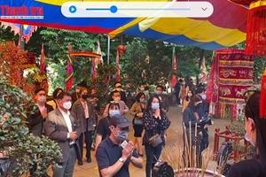 Hà Nội: Người dân đi lễ chùa đầu năm tuân thủ nghiêm các biện pháp phòng dịch Covid-19