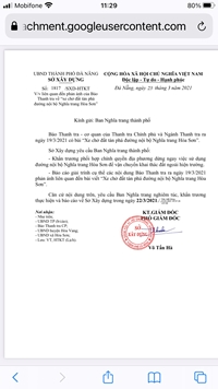 Giao Ban Nghĩa trang TP báo cáo giải trình cụ thể nội dung Báo Thanh tra nêu