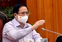 Thủ tướng Phạm Minh Chính kêu gọi chung sức, đồng lòng ngăn chặn, đẩy lùi đại dịch COVID -19