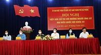 Hội nghị tiếp xúc cử tri với người ứng cử đại biểu Quốc hội khóa XV