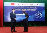 Chính phủ Hàn Quốc trao tặng Việt Nam 40 máy đo thân nhiệt từ xa