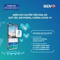 Chuyển tiền ủng hộ không cần nhớ số tài khoản ngay trên app của BIDV