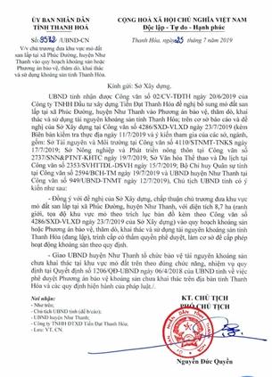 Vì sao nguồn cung vượt hơn 400 , Sở TN MT vẫn báo cáo tỉnh cấp phép tới 3 mỏ đất cho Công ty Định An